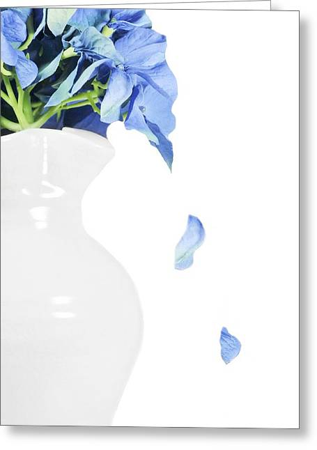 Vase Of Flowers Greeting Cards - Blue Tears Greeting Card by Diana Angstadt