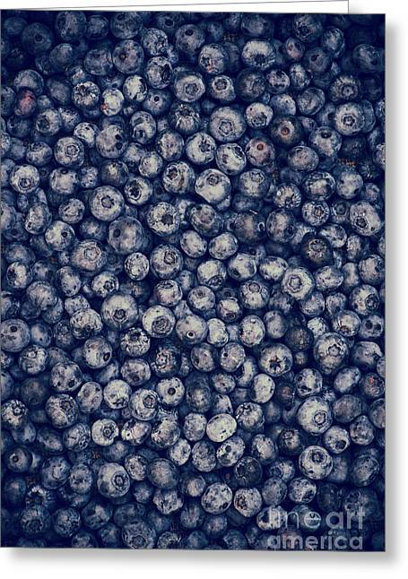 Fresh Picked Fruit Greeting Cards - Blueberries Greeting Card by Tim Gainey