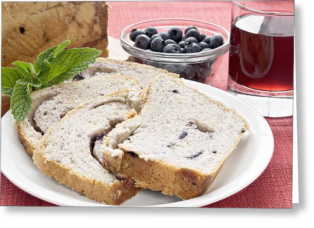Healthy Greeting Cards - Blueberry Cobbler Bread  Greeting Card by Vizual Studio