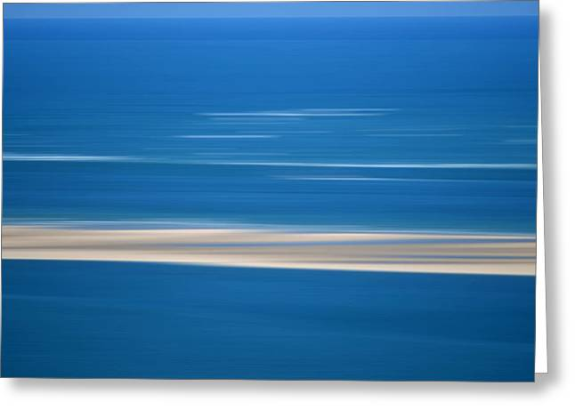Blurred Sea Greeting Card by Bernard Jaubert