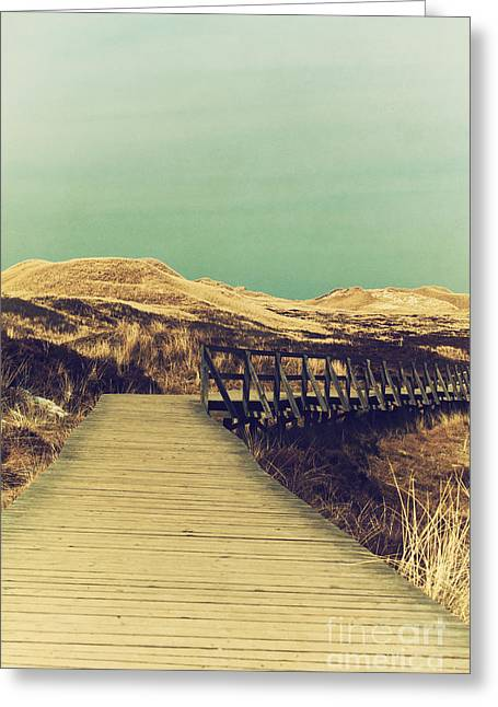 Reserve Mixed Media Greeting Cards - Boarded Walkway Greeting Card by Angela Doelling AD DESIGN Photo and PhotoArt