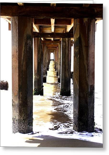 Boardwalk Greeting Card by Ange Sylvestri