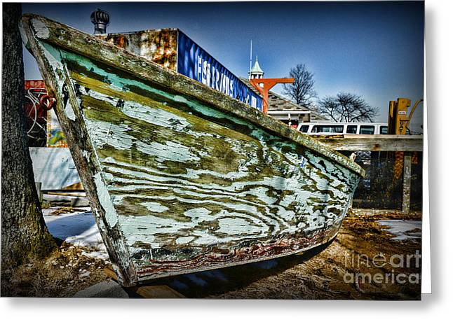 Row Boat Greeting Cards - Boat Forever Dry Docked Greeting Card by Paul Ward