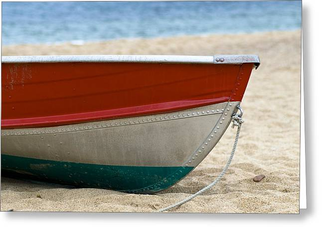 Beachscape Greeting Cards - Boat Greeting Card by Frank Tschakert