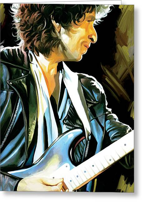Bob Dylan Print Greeting Cards - Bob Dylan Artwork 2 Greeting Card by Sheraz A