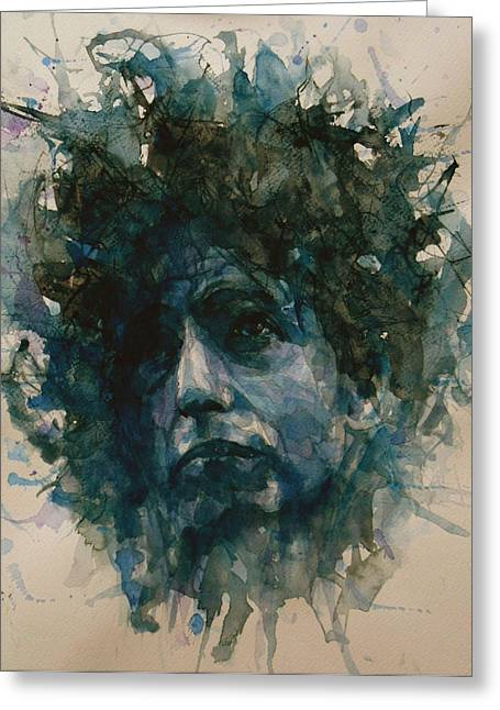 Google Greeting Cards - Bob Dylan Greeting Card by Paul Lovering