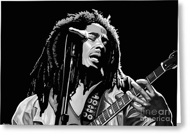Bob Marley Artwork Greeting Cards - Bob Marley Greeting Card by Meijering Manupix