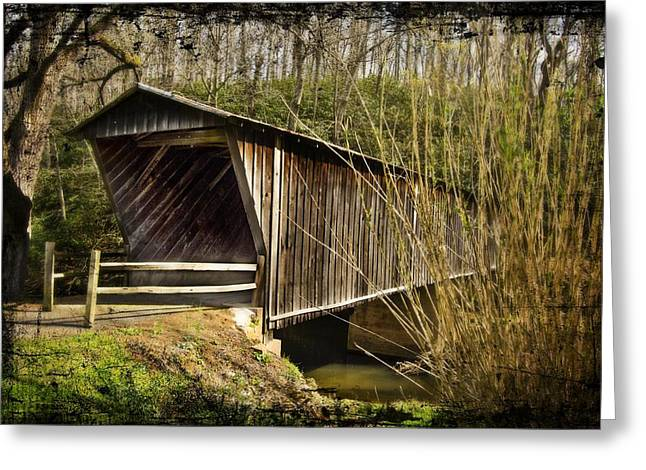 Pretense Greeting Cards - Bob White Covered Bridge Greeting Card by Lisa and Norman  Hall