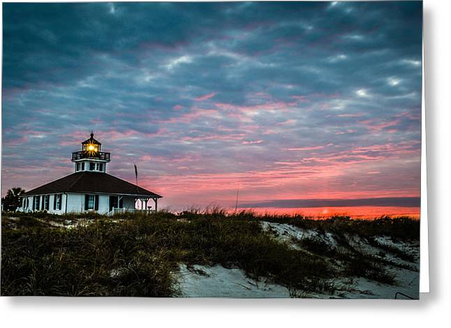 Boca Greeting Cards - Boca Grande Lighhouse Greeting Card by Joe Leone