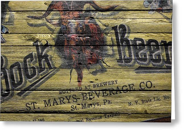 Saloons Greeting Cards - Bock Beer Greeting Card by Joe Hamilton