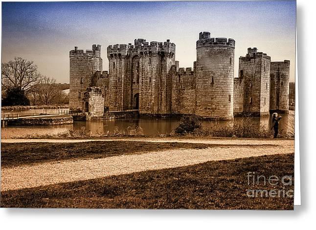 Duo Tone Digital Art Greeting Cards - Bodiam Castle Greeting Card by Donald Davis