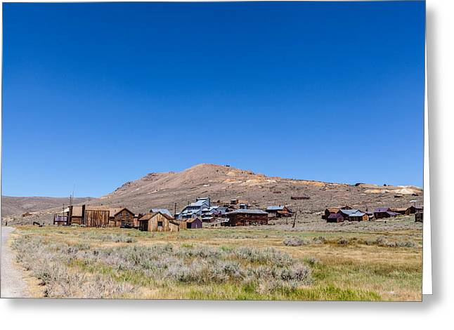 Grazing Snow Greeting Cards - Bodie California Greeting Card by John Crowe