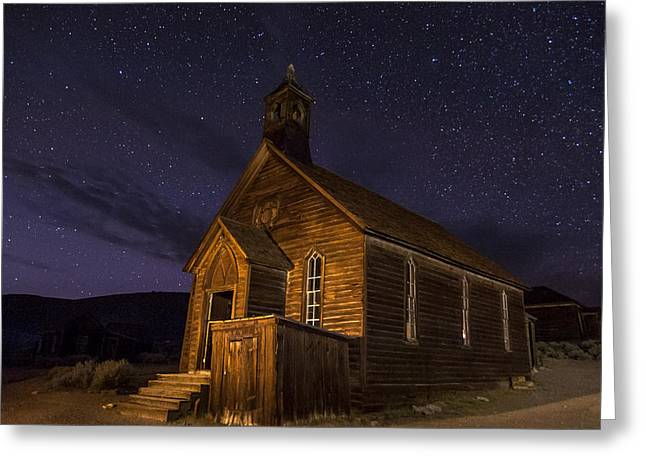 Ghost Town Greeting Cards - Bodie Church Greeting Card by Cat Connor