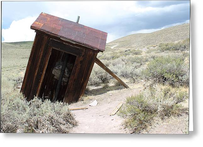 Bodie Out House Greeting Cards - Bodie Outhouse #15 Greeting Card by Lydia Warner Miller