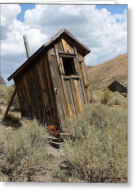Bodie Out House Greeting Cards - Bodie Outhouse #18 Greeting Card by Lydia Warner Miller