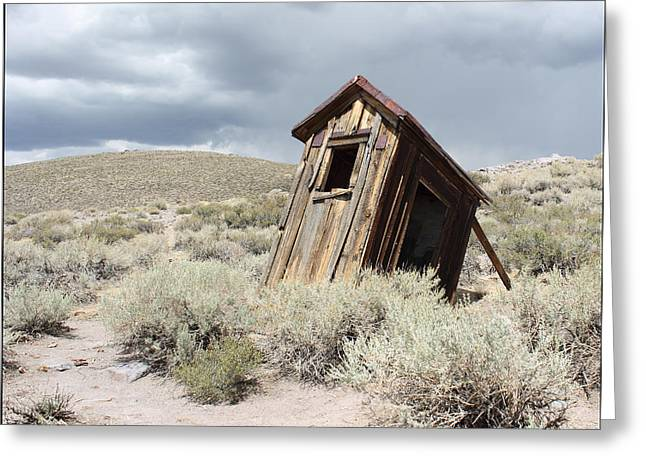 Bodie Out House Greeting Cards - Bodie Outhouse #20 Greeting Card by Lydia Warner Miller