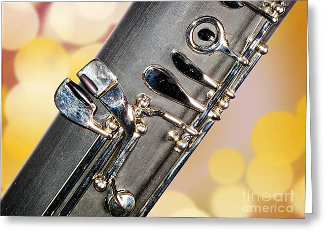 Bassoon Music Instrument Fine Art Prints Canvas Prints Greeting Cards In Color 3422.02 Greeting Card by M K  Miller