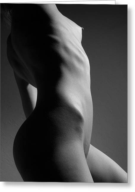 Naked Greeting Cards - Bodyscape Greeting Card by Joe Kozlowski