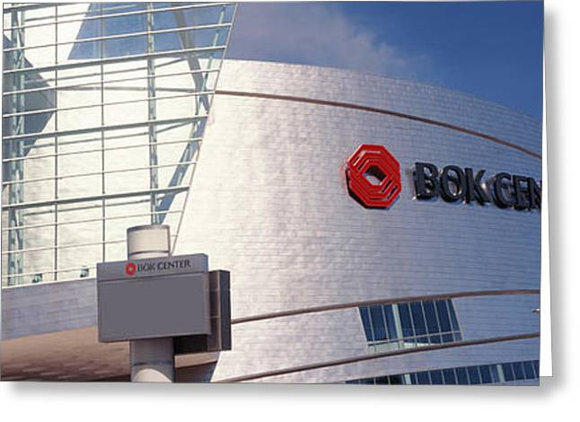 Script Greeting Cards - Bok Center At Downtown Tulsa, Oklahoma Greeting Card by Panoramic Images