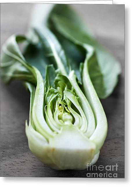 Orient Photographs Greeting Cards - Bok choy Greeting Card by Elena Elisseeva