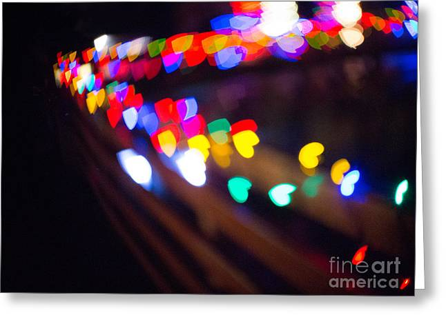 Green Abstract Greeting Cards - Bokeh Magic 2 Greeting Card by Rebecca Cozart