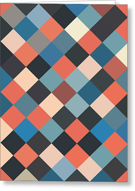 Bold Style Greeting Cards - Bold Geometric Print Greeting Card by Mike Taylor