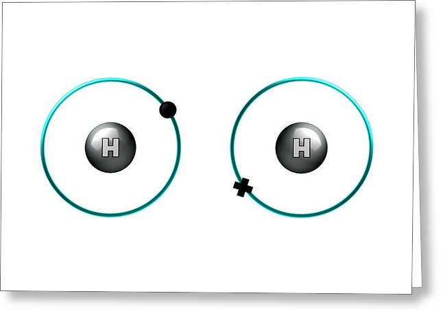 Bond Formation In Hydrogen Molecule Greeting Card by Animate4.com/science Photo Libary