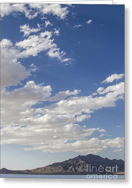 Bonneville Speed Week Greeting Cards - Bonneville Salt Flats Landscape Greeting Card by Holly Martin