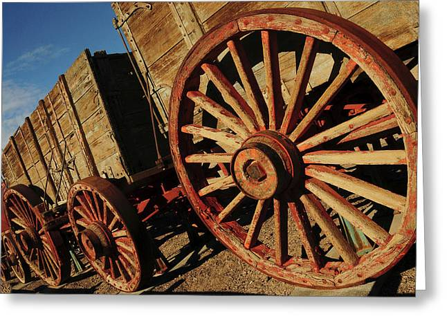 Borax Mining Wagon, Furnace Creek Greeting Card by Michel Hersen