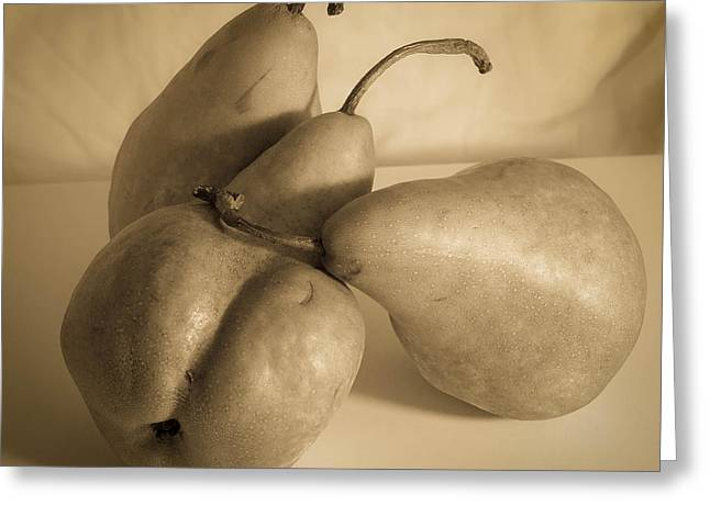 Bosc Greeting Cards - Bosc Pears 3 Greeting Card by Paul Haist