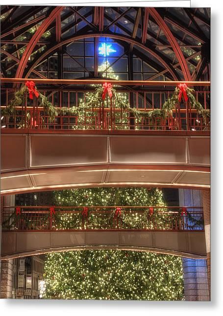 Faneuil Hall Greeting Cards - Boston Christmas Tree Card Greeting Card by Joann Vitali