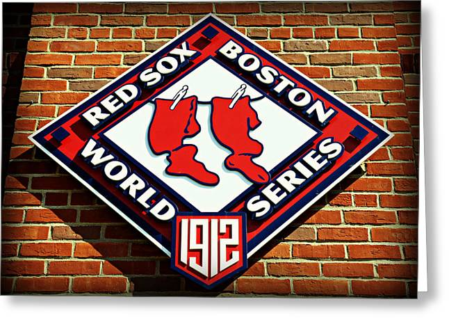 Boston Red Sox Greeting Cards - Boston Red Sox 1912 World Champions Greeting Card by Stephen Stookey