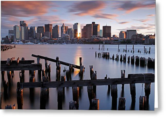 Beantown Greeting Cards - Boston Skyline Greeting Card by Juergen Roth