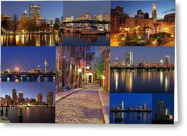 Boston Skyline Photography Greeting Card by Juergen Roth