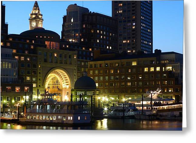 Boston Ma Greeting Cards - Boston Waterfront Greeting Card by Toby McGuire