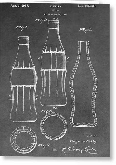 Bottle Cap Greeting Cards - Bottle Patent Greeting Card by Dan Sproul
