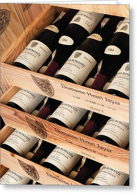 Bottles Of Vosne-romanee Premier Cru Cros Parantoux Greeting Card by Anonymous