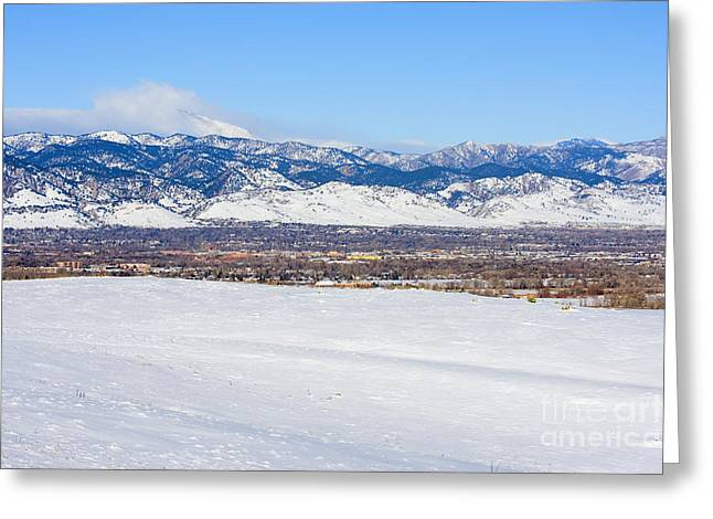 University Of Boulder Colorado Greeting Cards - Boulder Colorado Greeting Card by Steve Krull