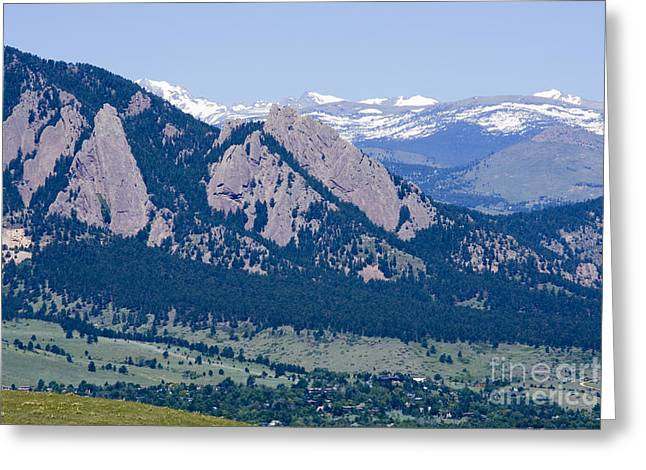 University Of Boulder Colorado Greeting Cards - Boulder in the Summertime Greeting Card by Steve Krull