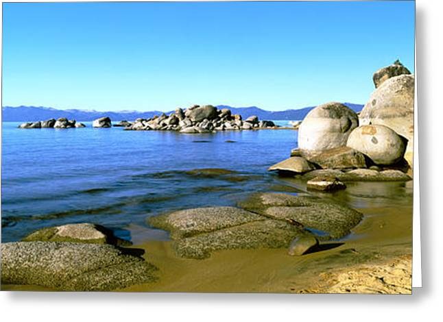Urban Images Greeting Cards - Boulders At The Coast, Lake Tahoe Greeting Card by Panoramic Images
