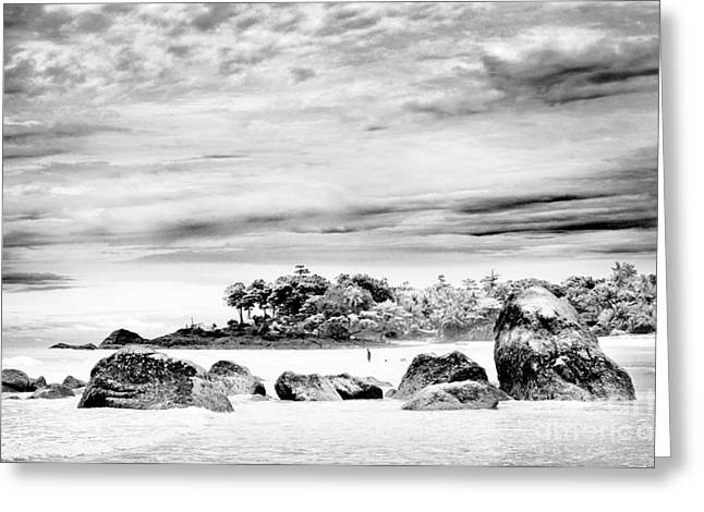 William Voon Greeting Cards - Boulders On The Beach Greeting Card by William Voon