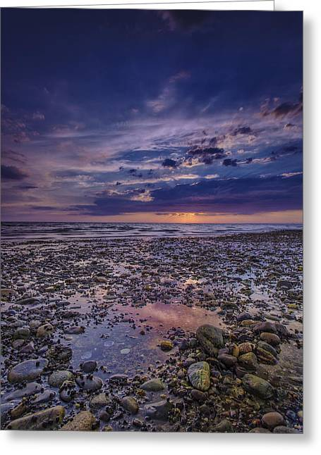Storm Clouds Cape Cod Greeting Cards - Bound Brook Sunset Greeting Card by Rick Berk