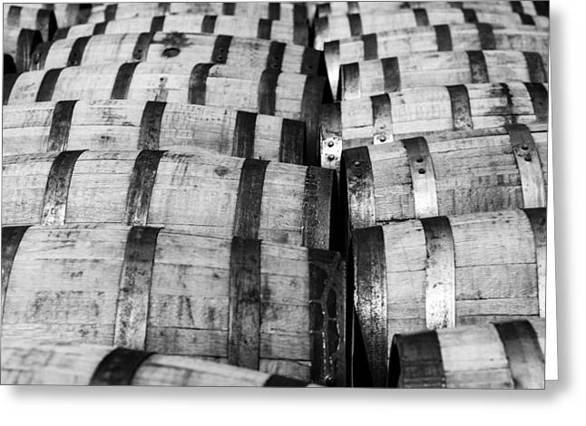 Rusted Barrels Greeting Cards - Bourbon barrels Greeting Card by Alexey Stiop