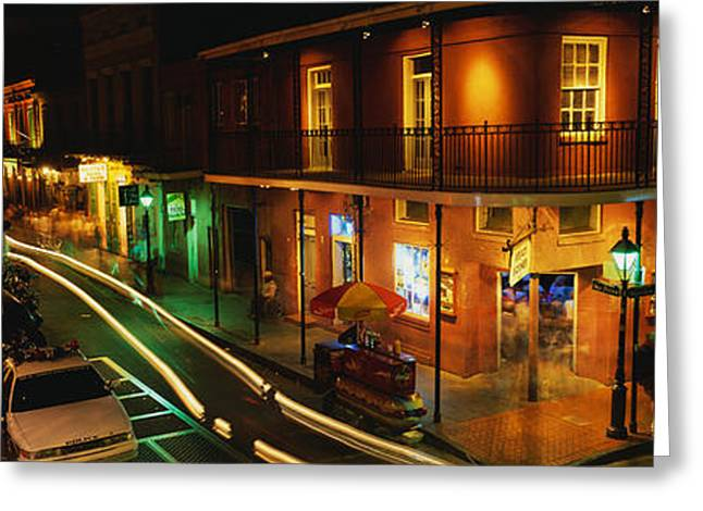 Bourbon Street Greeting Cards - Bourbon Street New Orleans La Greeting Card by Panoramic Images