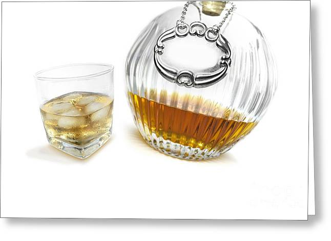 Booze; Bottle; Bottles; Party; Partying Greeting Cards - Bourbon Whisky Canter Greeting Card by Ryan Jorgensen