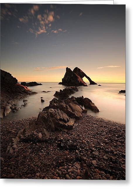 North Sea Greeting Cards - Bow Fiddle Rock Greeting Card by Grant Glendinning