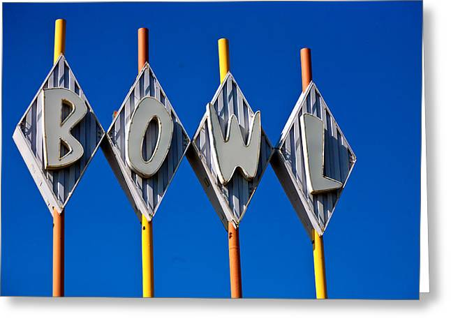 Brightly Colored Greeting Cards - Bowl Greeting Card by Matthew Bamberg