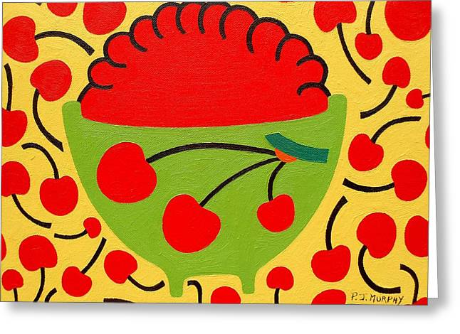 Recently Sold -  - Abstract Nature Greeting Cards - Bowl Of Cherries Greeting Card by Patrick J Murphy