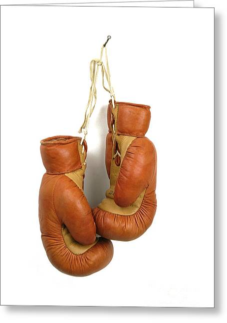 Violence Greeting Cards - Boxing gloves Greeting Card by Bernard Jaubert