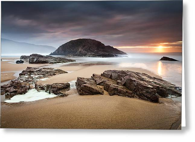 Beach At Night Greeting Cards - Boyeeghter Bay Greeting Card by Gary McParland
